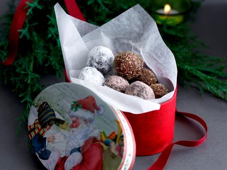 šokolaaditrühvlid jõulupeole
